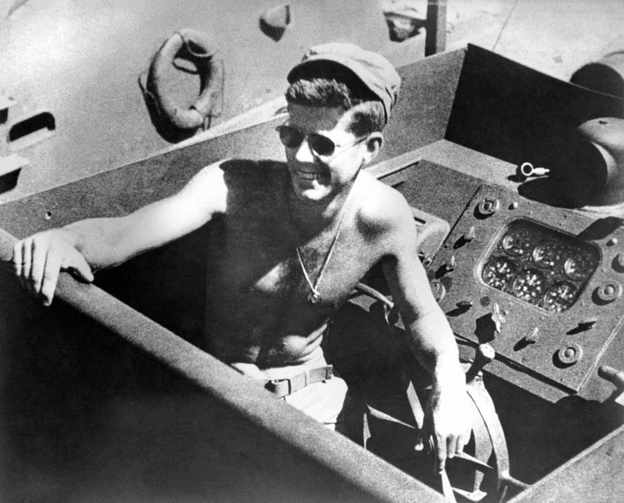 Jfk Serving On Pt-109 - World War Two - 1943 Photograph