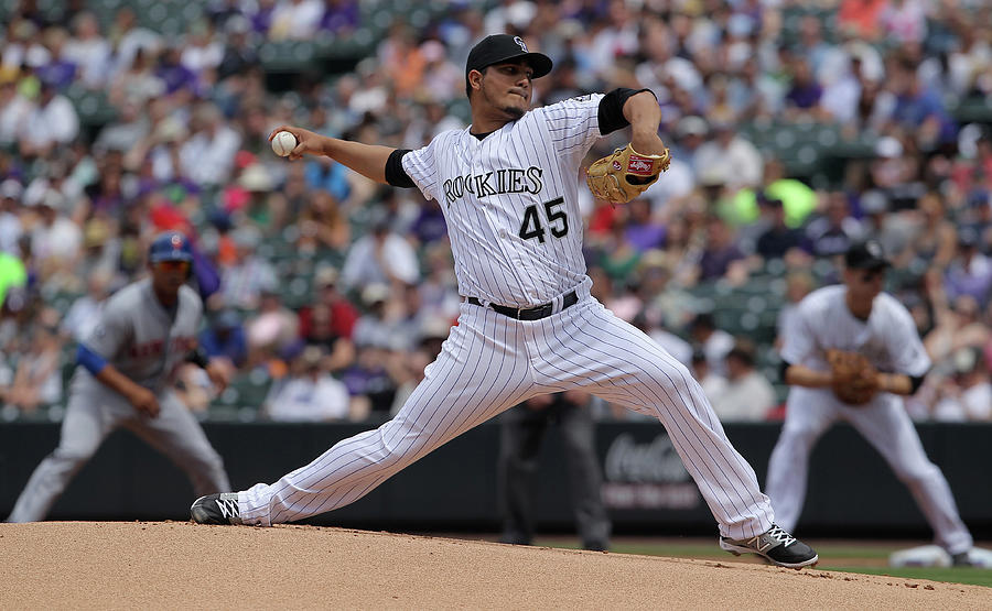 Jhoulys Chacin Photograph by Doug Pensinger