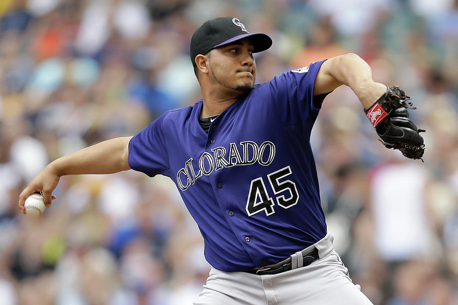 Jhoulys Chacin Photograph by Mike Mcginnis