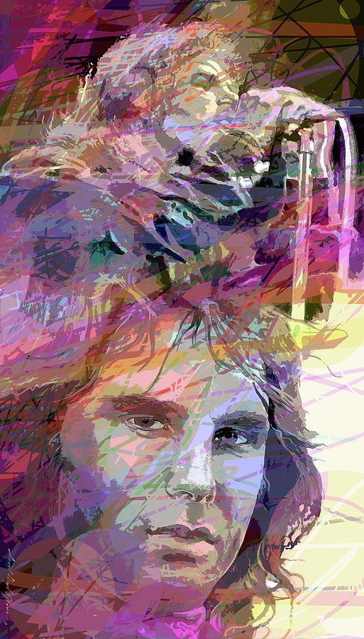 Jim Morrison Visage Painting