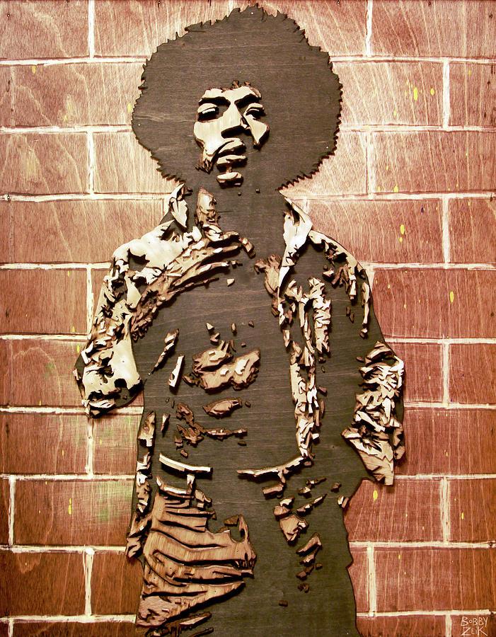 Jimi Painting - Jimi by Bobby Zeik
