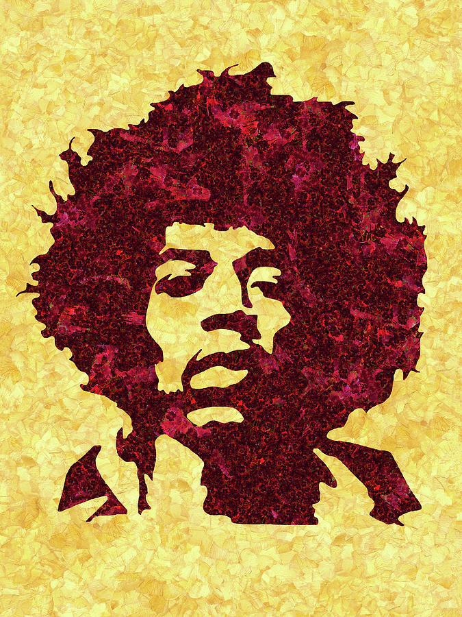 Jimi Hendrix Mixed Media - Jimi Hendrix Print, Jimi Hendrix Poster, Rock Music Lovers Gift by Irina Pospelova