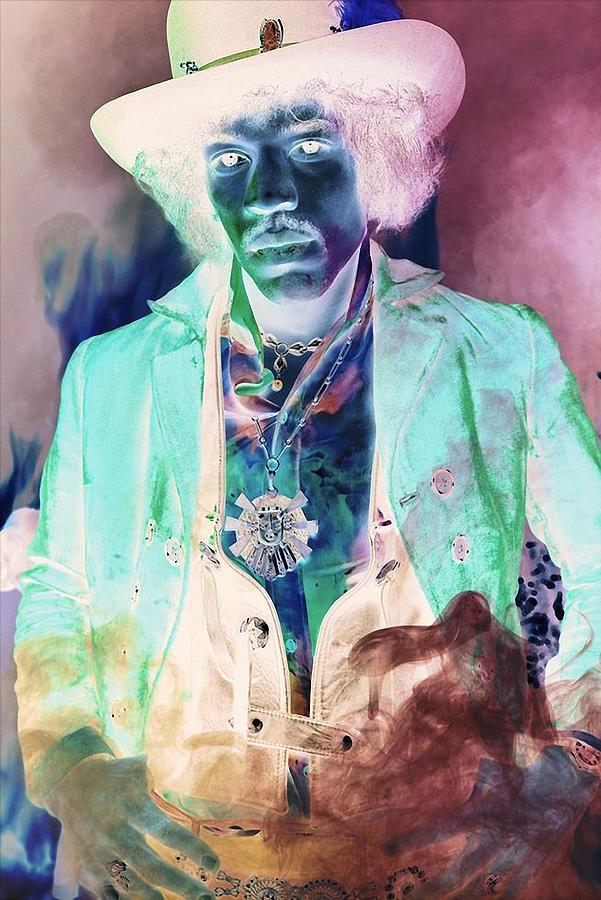 Jimi Hendrix Mixed Media - Jimi Hendrix See Challenge in Description by Marvin Blaine