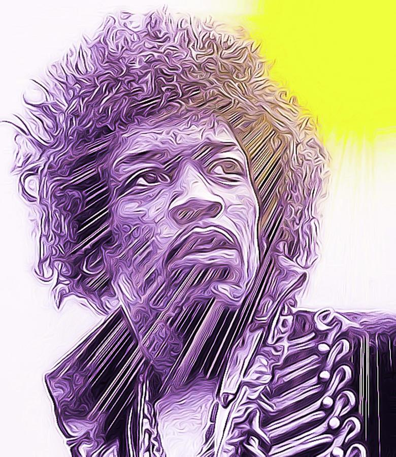 Jimi Hendrix by Theodore Jones