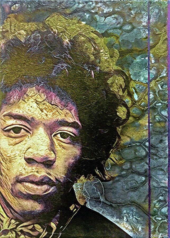Jimi Painting - Jimi - I Dont Live Today by Bobby Zeik
