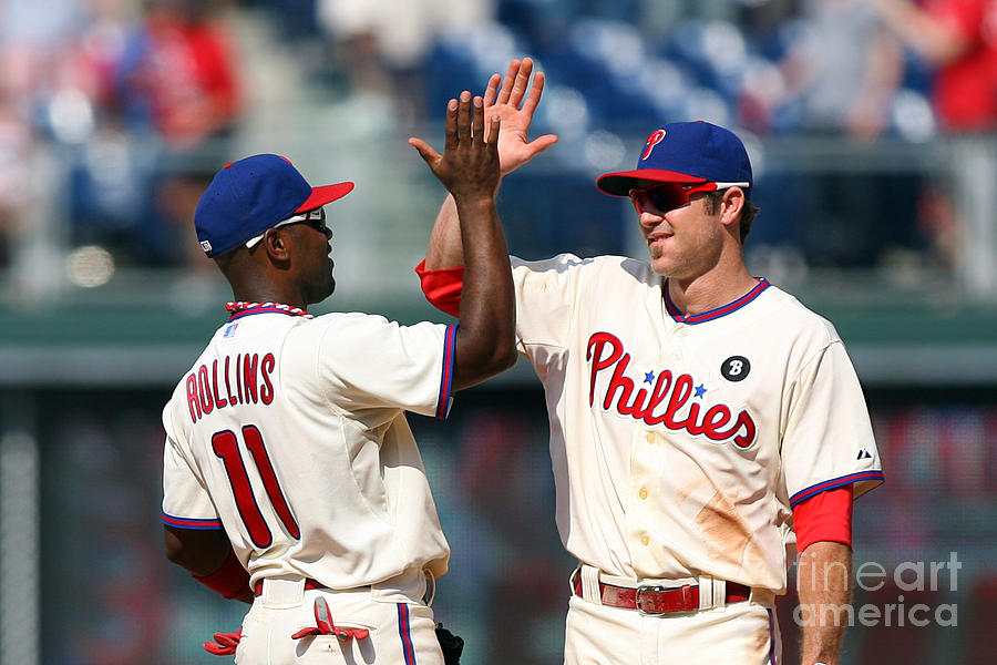 Jimmy Rollins and Chase Utley Photograph by Hunter Martin