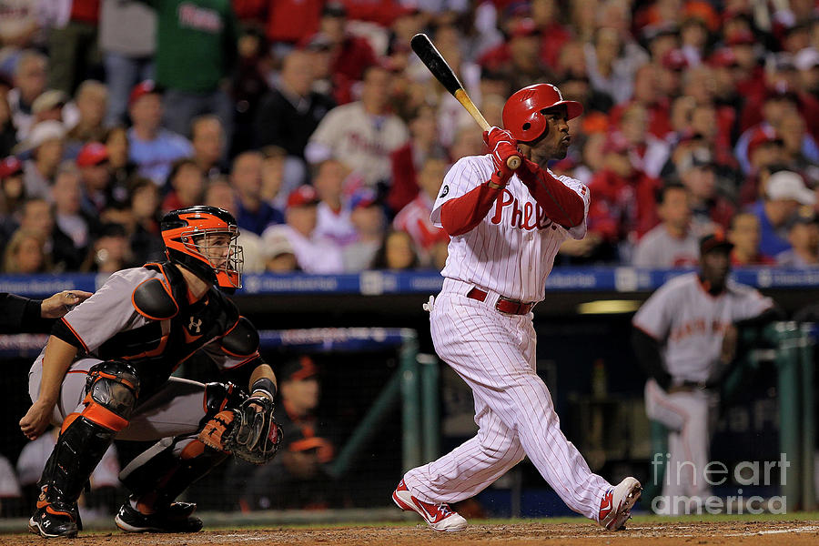 Jimmy Rollins Photograph by Doug Pensinger