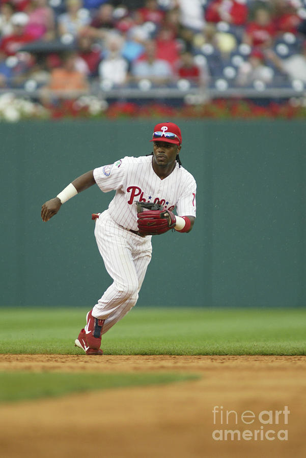 Jimmy Rollins Photograph by Rob Leiter