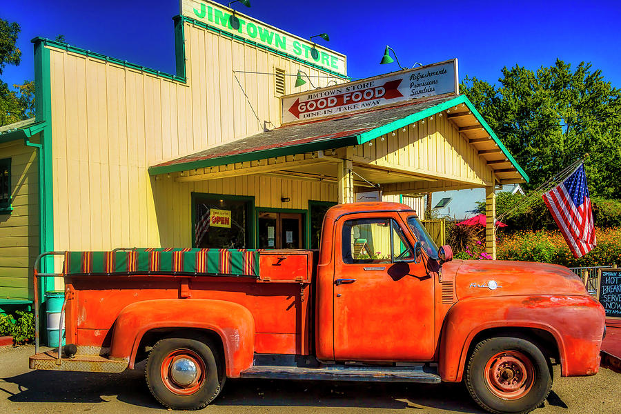 Truck Photograph - Jimtown Store Pickup by Garry Gay