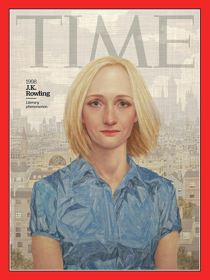 Time Photograph - J.K. Rowling, 1998 by Illustration by Lu Cong for TIME