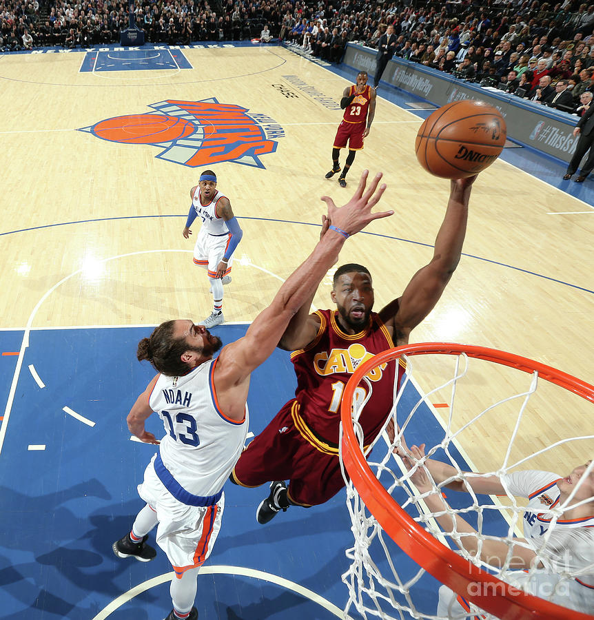 Joakim Noah and Tristan Thompson Photograph by Nathaniel S. Butler