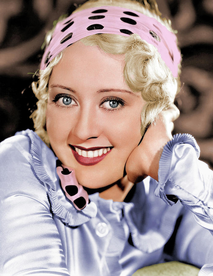 Joan Blondell Colorized Photograph