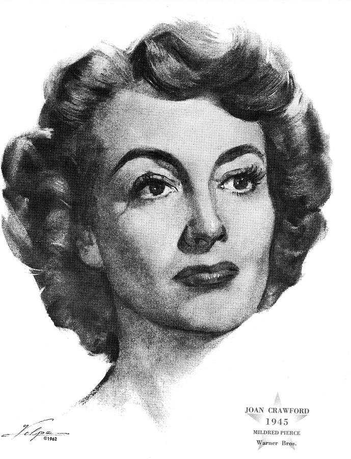 Joan Crawford By Volpe Drawing