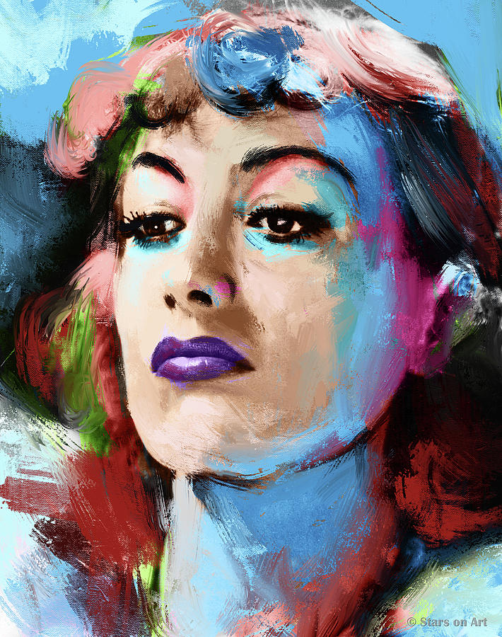 Joan Crawford portrait painting by Stars on Art