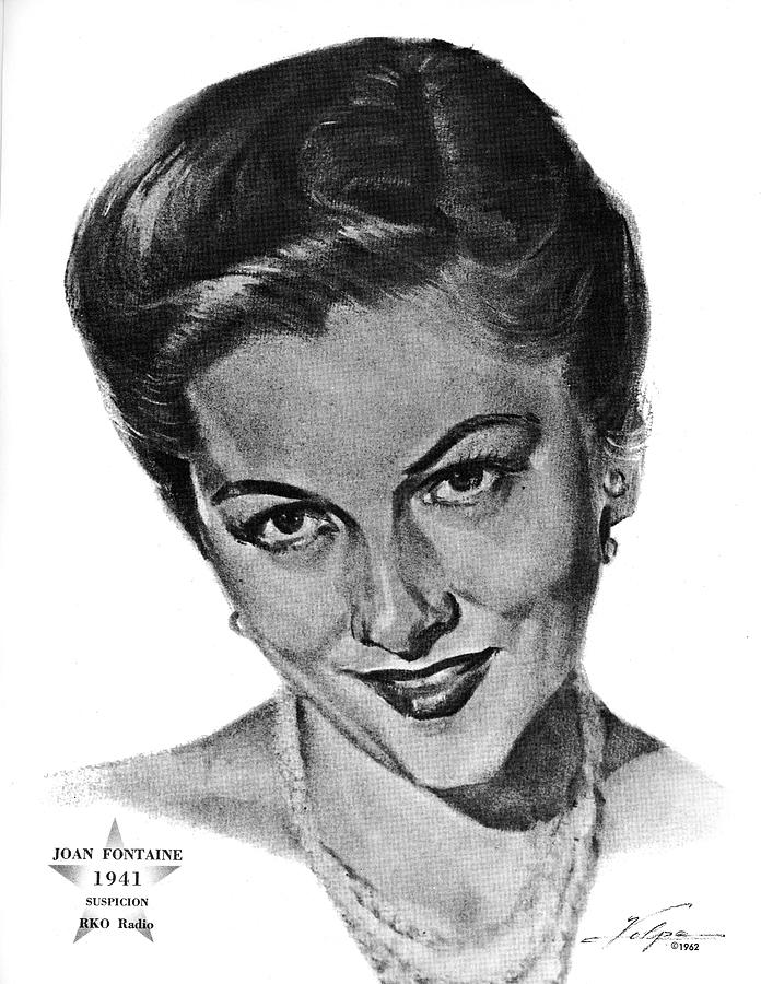 Joan Fontaine By Volpe Drawing