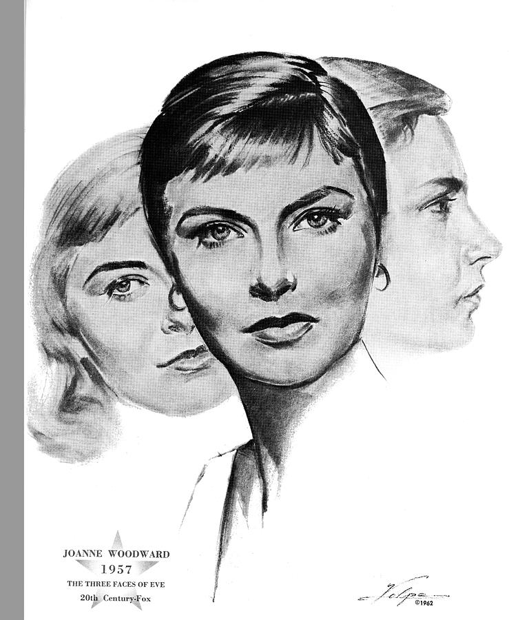 Joanne Woodward By Volpe Drawing