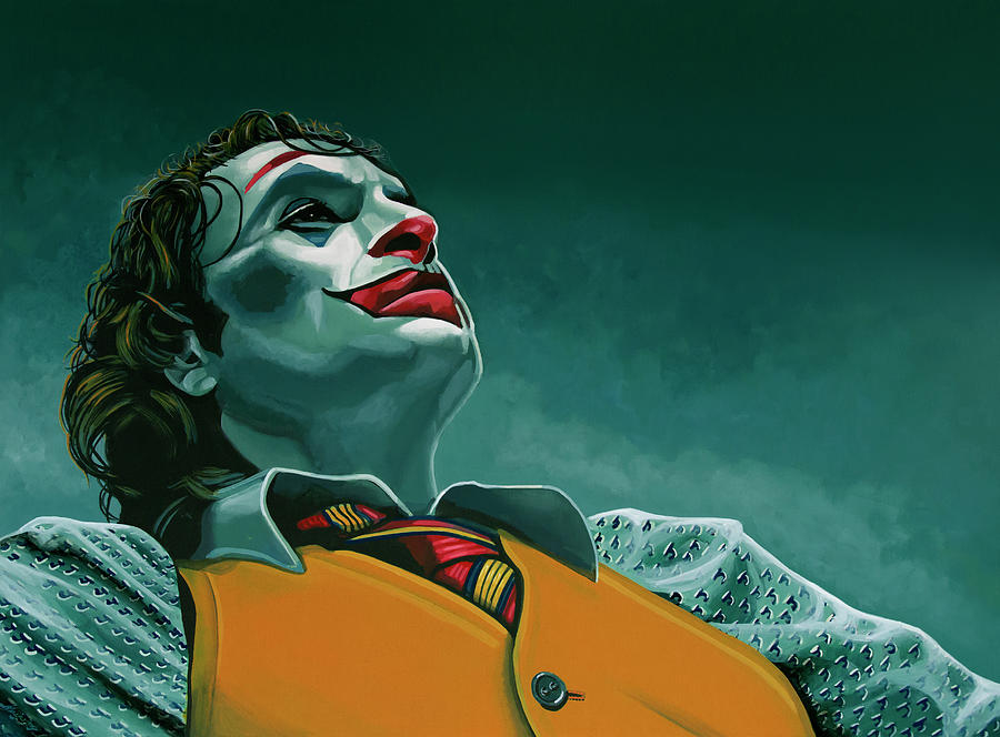 Joaquin Phoenix in Joker painting by Paul Meijering