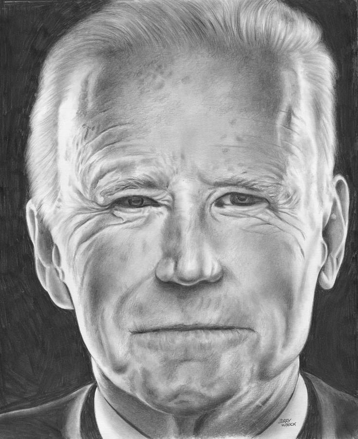 Joe Biden Drawing - Joe Biden by Jerry Winick