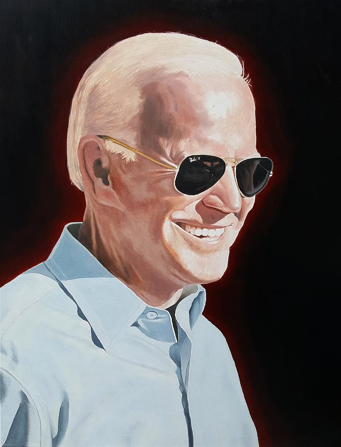 Biden Painting - Joe Biden Painting by Dave Martsolf