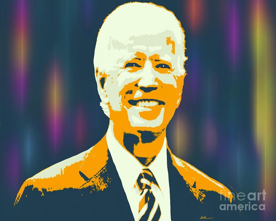Joe Biden Painting - Joe Biden Smile by Jack Bunds