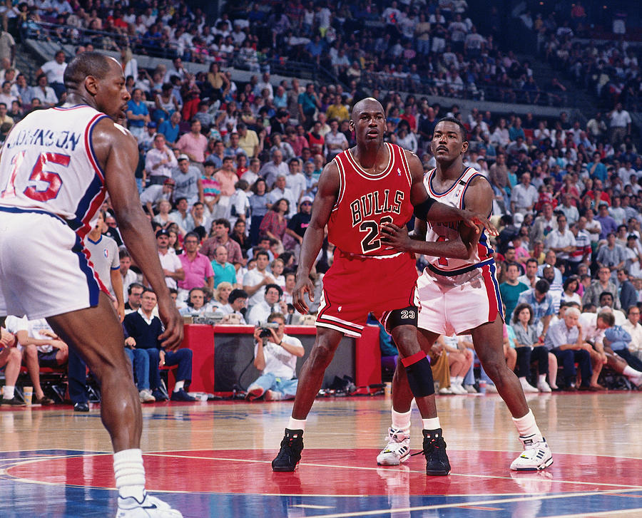 Joe Dumars and Michael Jordan Photograph by Allen Einstein