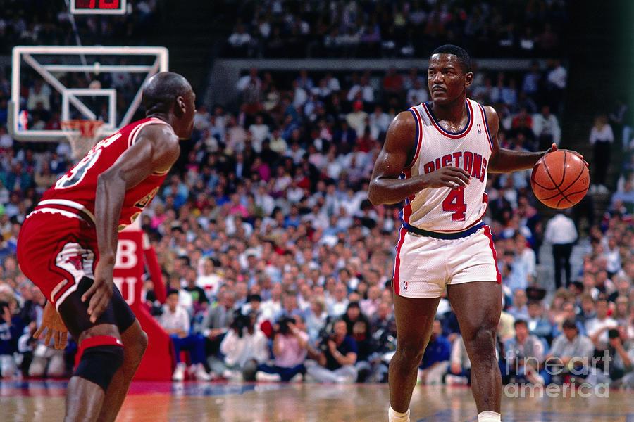 Joe Dumars and Michael Jordan Photograph by Andrew D. Bernstein