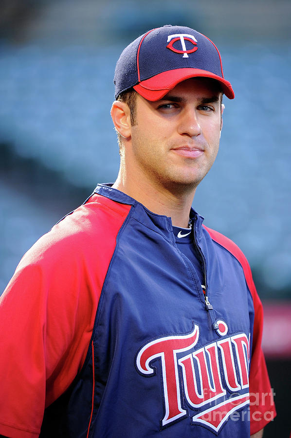 Joe Mauer Photograph by Kevork Djansezian