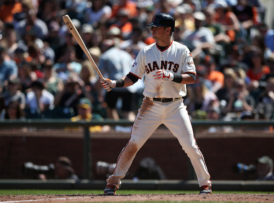 Joe Panik Photograph by Brad Mangin