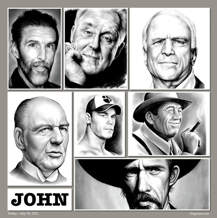 John Glover Drawing - John Collage by Greg Joens