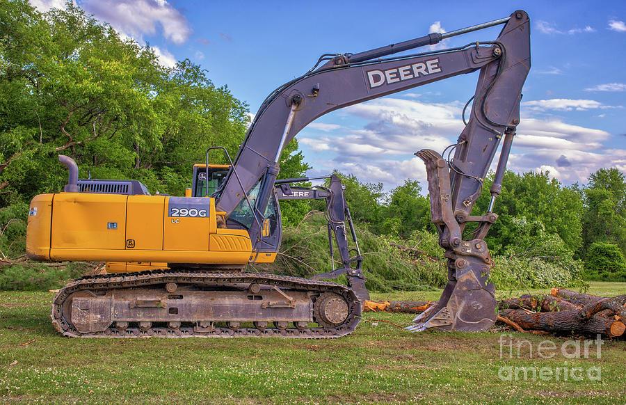 John Deere 290g Lc Hydraulic Excavator Digital Art
