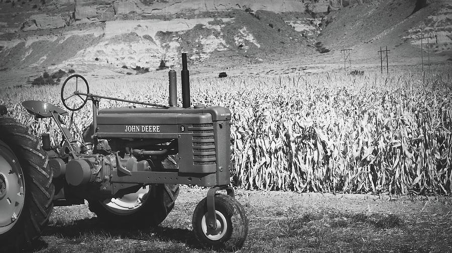 Tractor Photograph - John Deere by Kamie Stephen