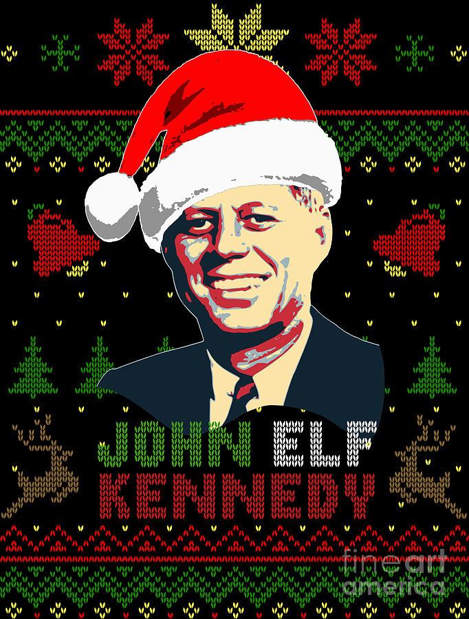 Santa Digital Art - John Elf Kennedy by Filip Schpindel
