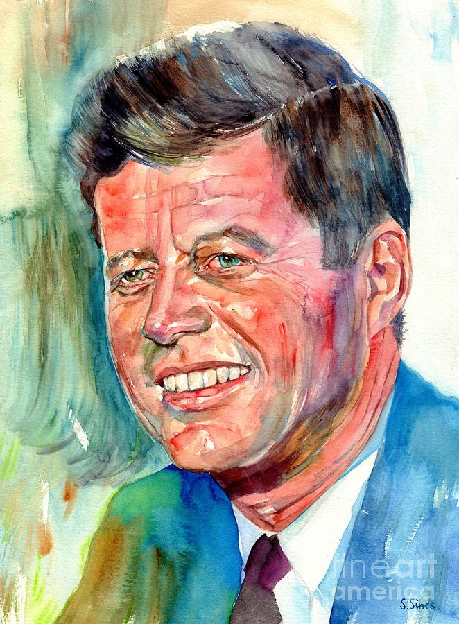 John Painting - John F. Kennedy Painting by Suzann Sines