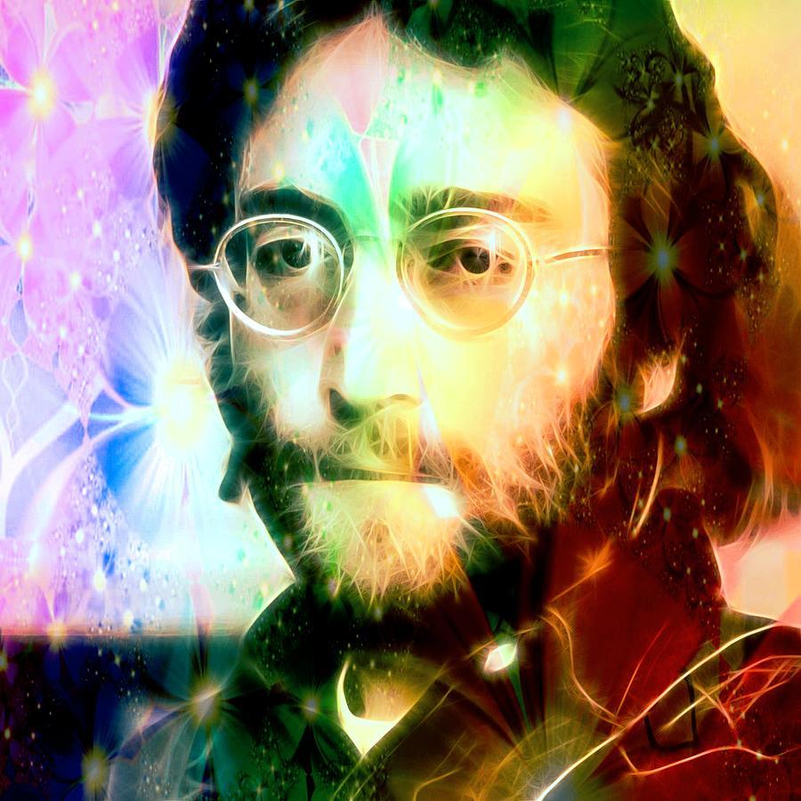 John Lennon Digital Art - John by Fred Larucci