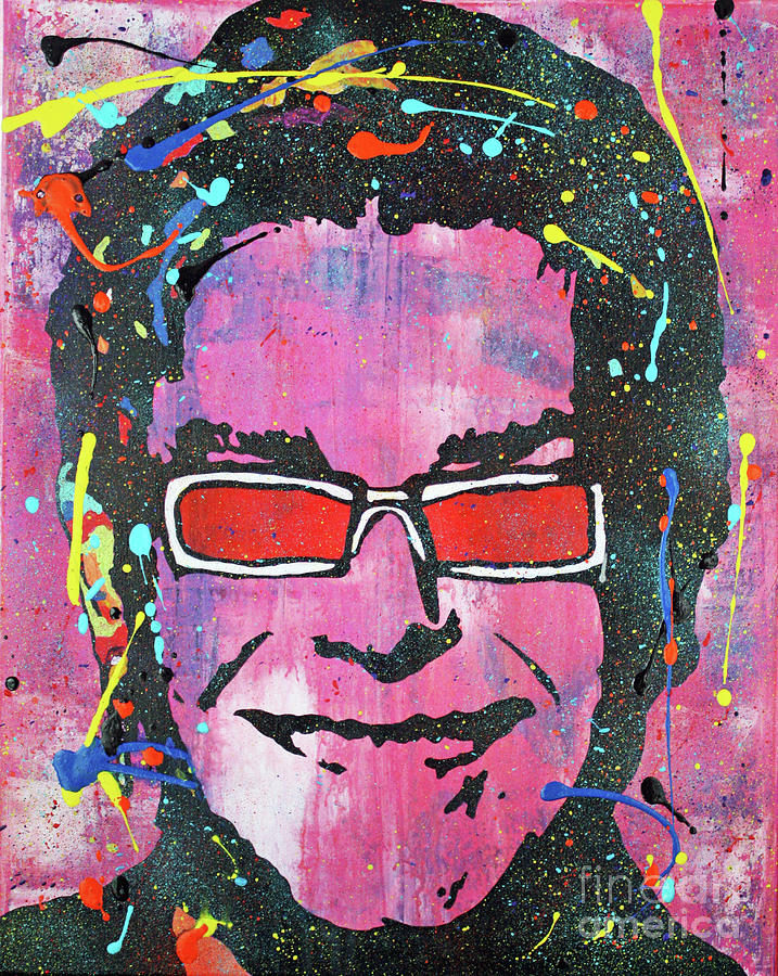 Elton John Sunglasses Painting