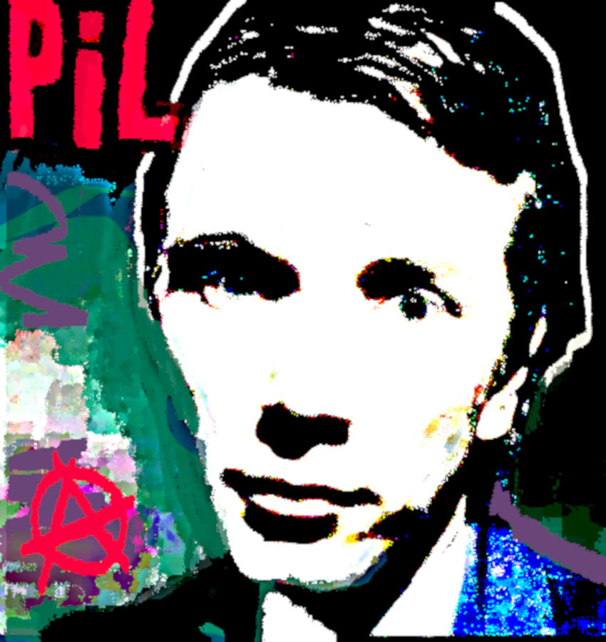 John Lydon Public Image Ltd Drawing