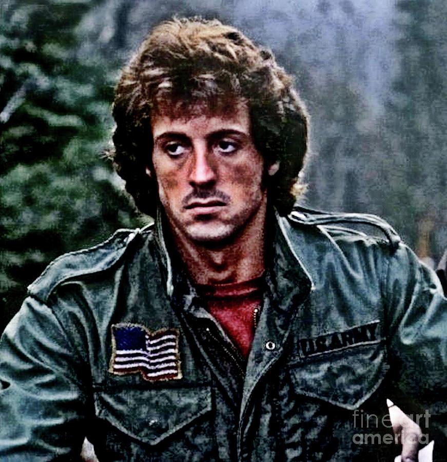 John Rambo First Blood Digital Art By Scott D Van Osdol