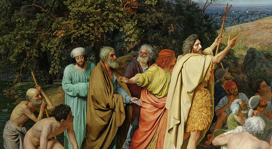 Ivanov Painting - John The Baptist, Appearance Of Christ Before The People by Alexander Andreyevich Ivanov