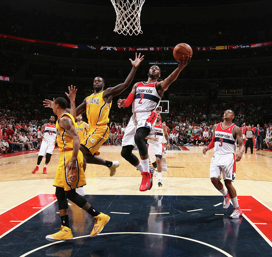 John Wall and Lance Stephenson Photograph by Ned Dishman
