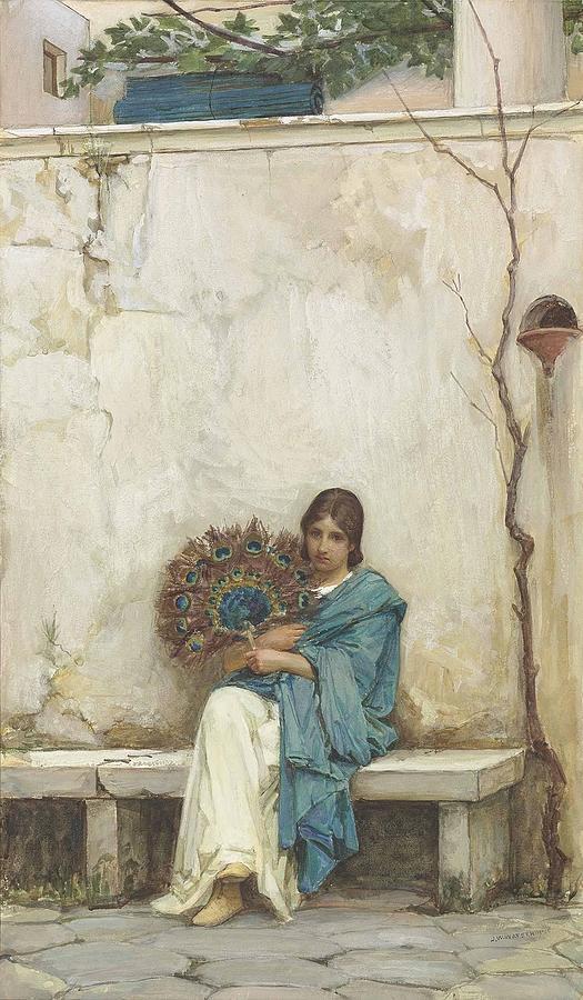 John-william-waterhouse-day-dreams Painting