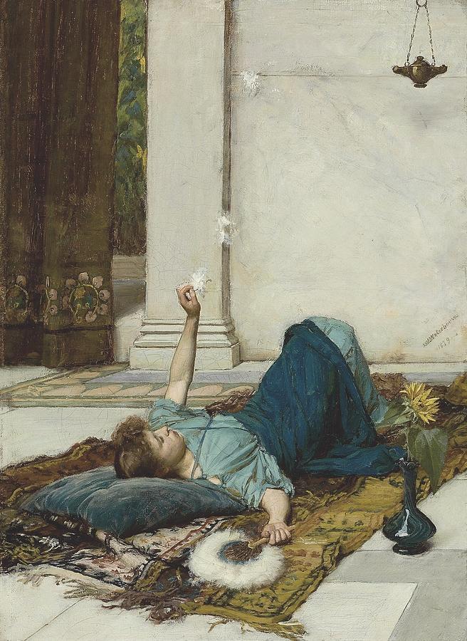 John-william-waterhouse-dolce-far-niente Painting