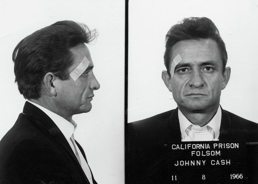 Johnny Cash Painting - Johnny Cash Mug shot by Historical Photo