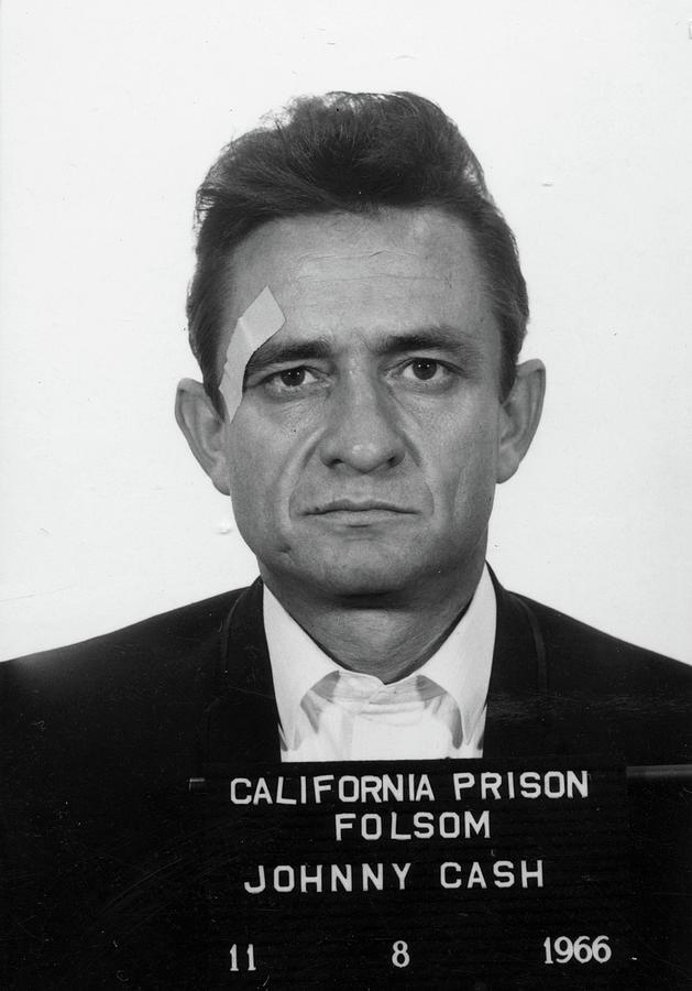 Johnny Cash Painting - Johnny Cash Mugshot by Historical Photo