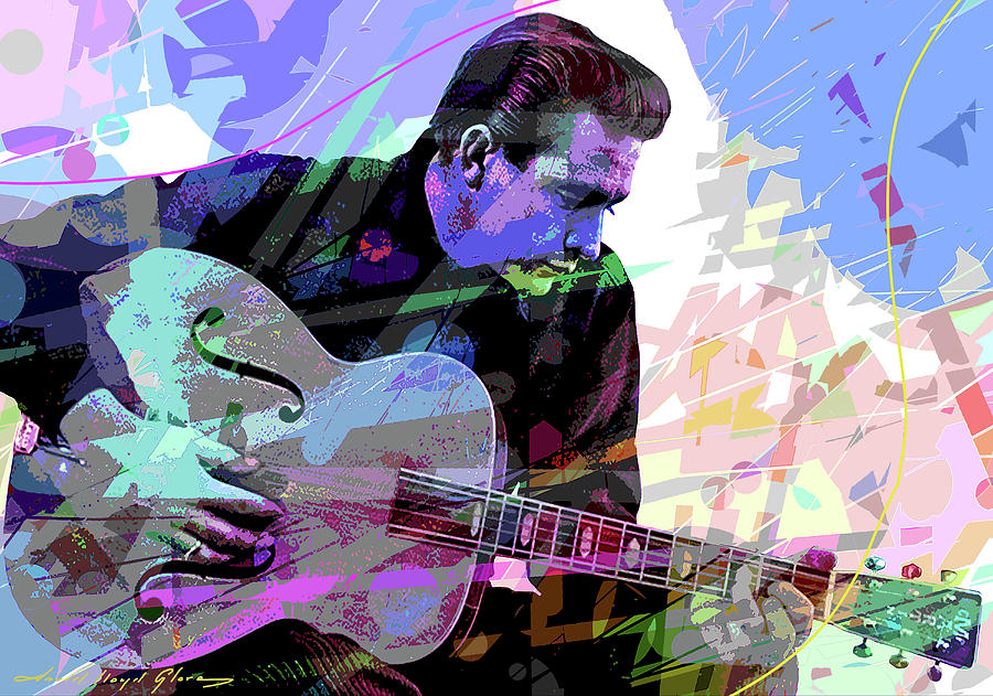 JOHNNY CASH - THE MAN IN BLACK by David Lloyd Glover