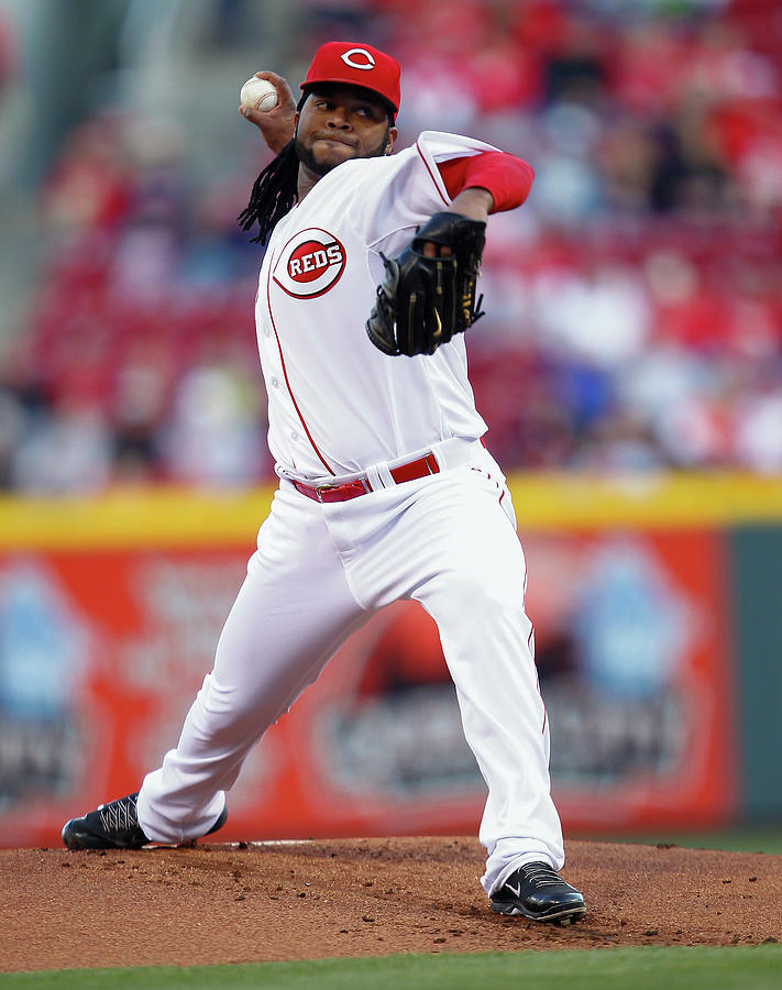 Johnny Cueto Photograph by Michael Hickey