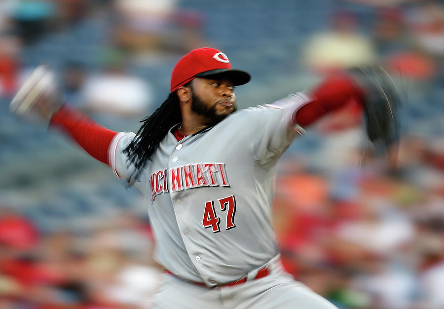 Johnny Cueto Photograph by Rob Carr