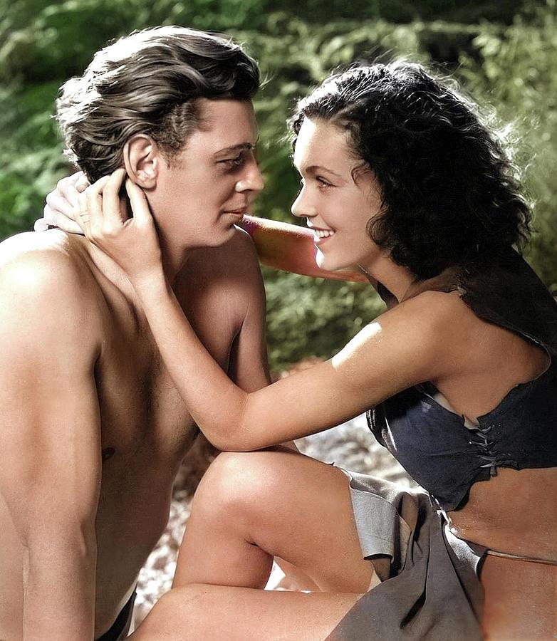 Johnny Weissmuller And Maureen Osullivan  - Tarzan-3 Photograph