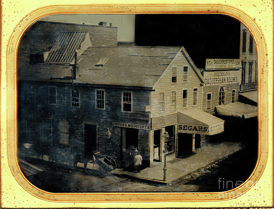 Johnson's Daguerreian Rooms at 138 Montgomery Street 1855 by California Views Archives Mr Pat Hathaway Archives