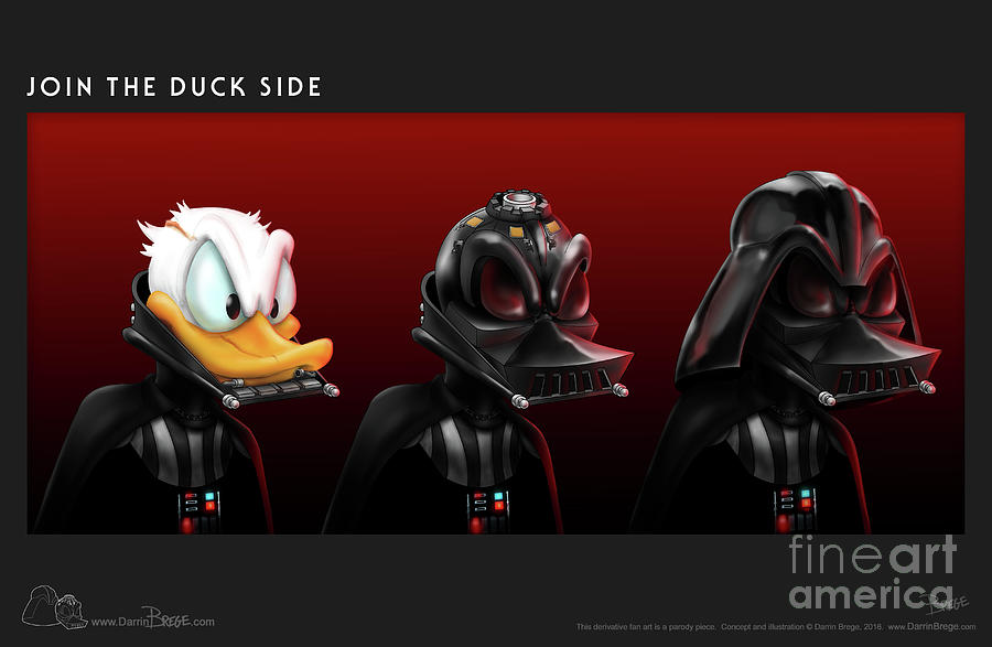 Donald Duck Drawing - Join the Duck Side by Darrin Brege