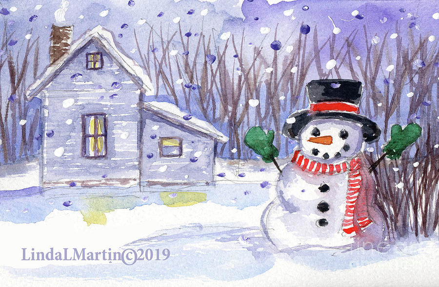 Jolly Snowman by Linda L Martin